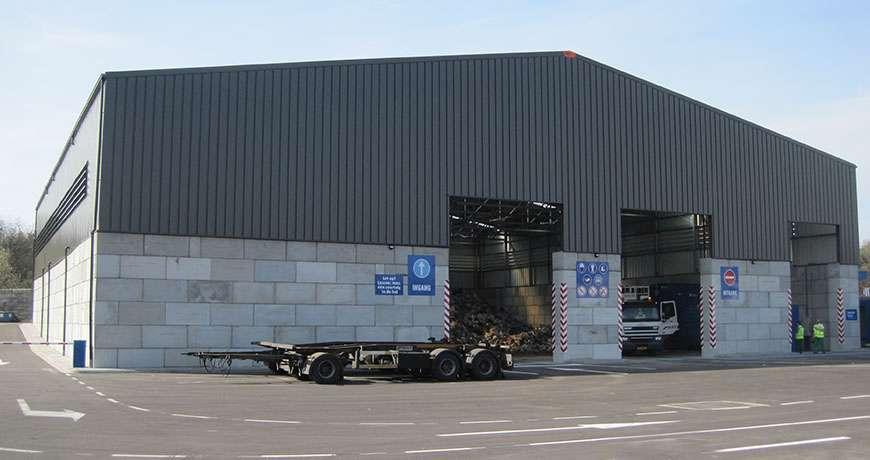 hale industriale metalice pentru reciclare deseuri