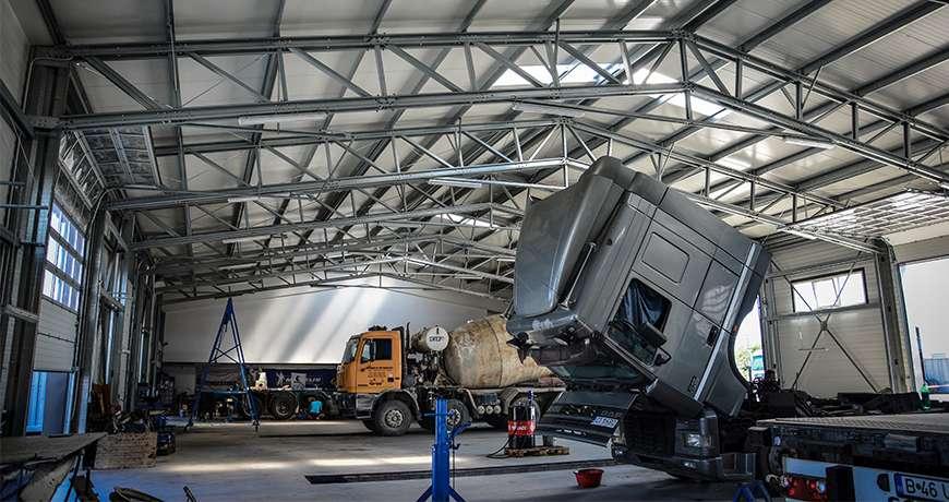 constructii hangare camioane