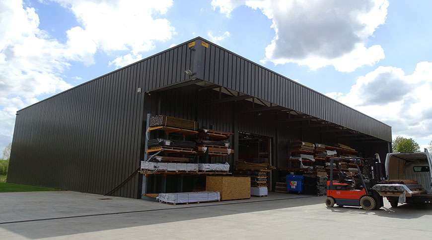 buildings storage warehouse steel industrial