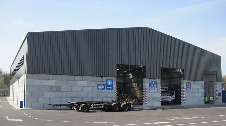 industry buildings recycle steel storage bulk