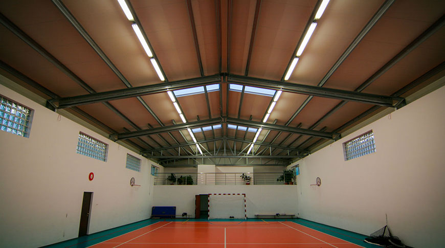 interior sala de sport in hala frisomat