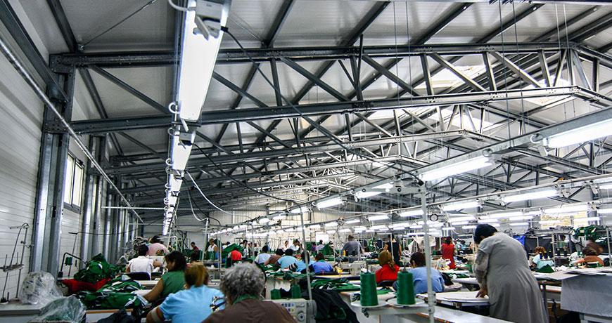 hala productie textile
