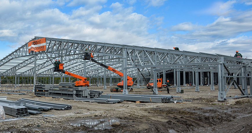 constructie hala productie textile