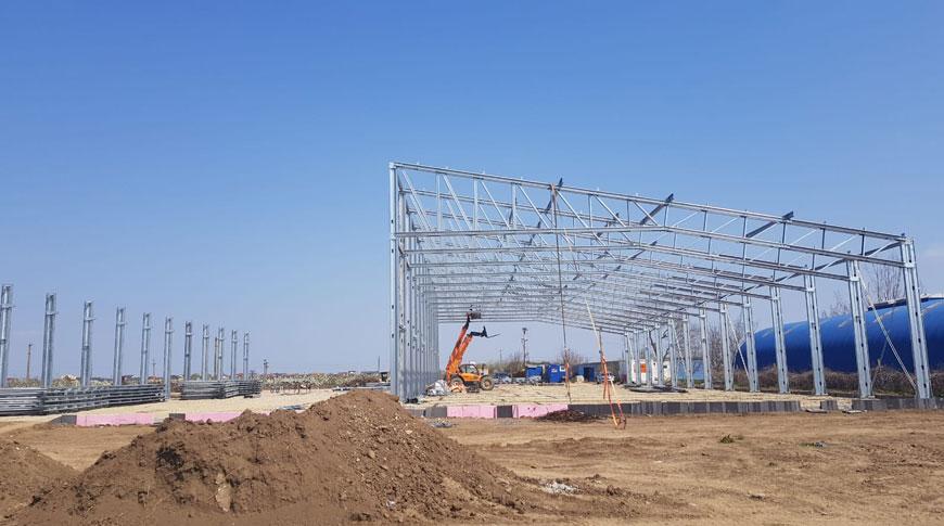 Montaj structura metalica hale de inchirat construite depozit logistic