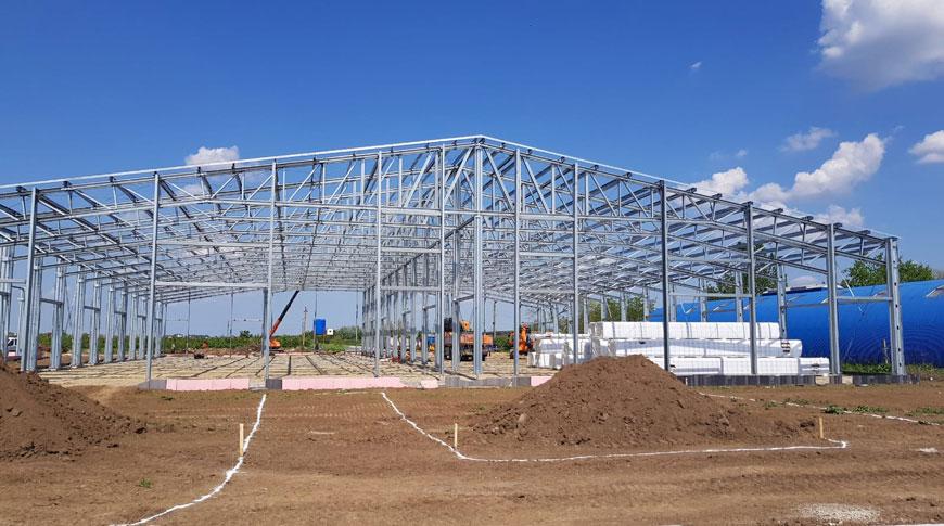 Structura metalica galvanizata depozit logistic