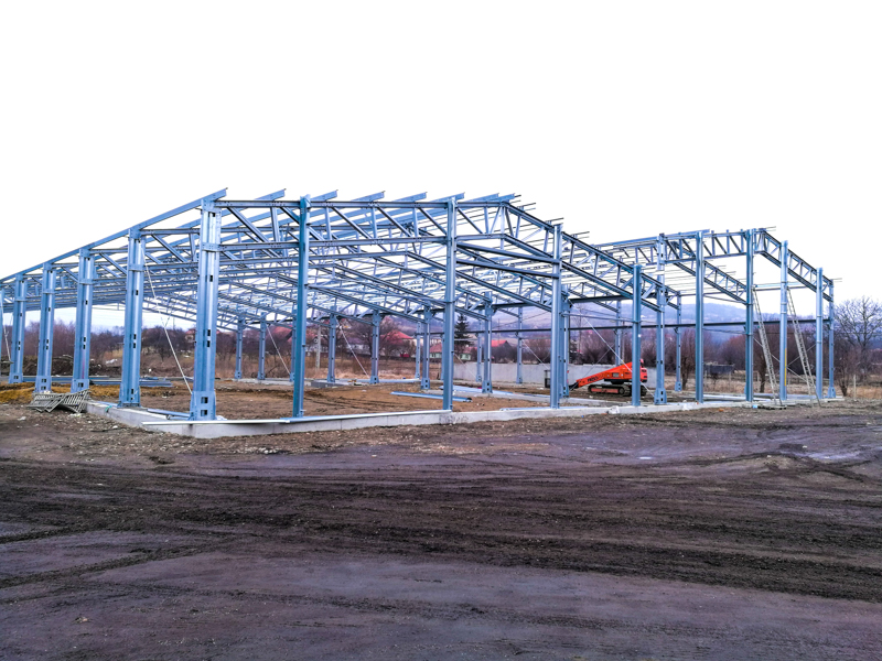 structura metalica-otel hala productie Frisomat